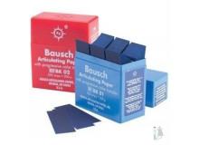 Артикуляционная бумага bk 01 (синяя) и bk 02 (красная) Bausch 300 шт 200 мкм