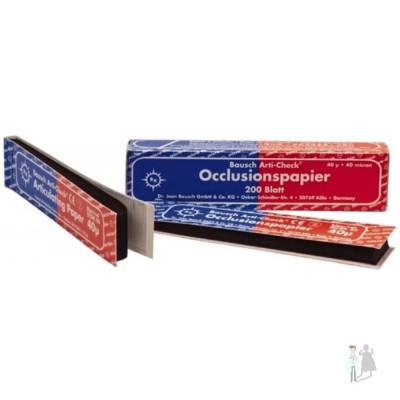 Артикуляционная бумага bk 80 красно-синяя Bausch 200шт 40мкм