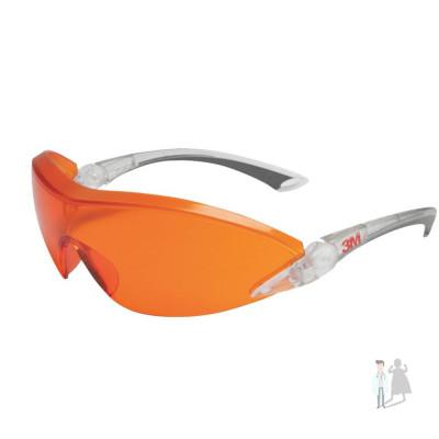 Очки защитные красно-оранжевые открытые 3M 2846