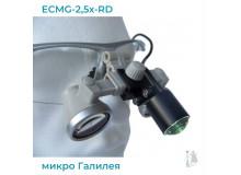 Бинокуляры ECMG-2,5x-RD ErgonoptiX микро Галилея с осветителем D-Light micro XL и УФ фильтр