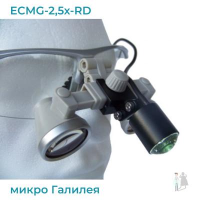 ECMG-2,5x-RD ErgonoptiX микро Галилея с осветителем D-Light micro XL и УФ фильтр