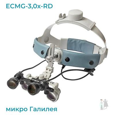ECMG-3,0x-RD ErgonoptiX микро Галилея с подсветкой D-Light Duo HD