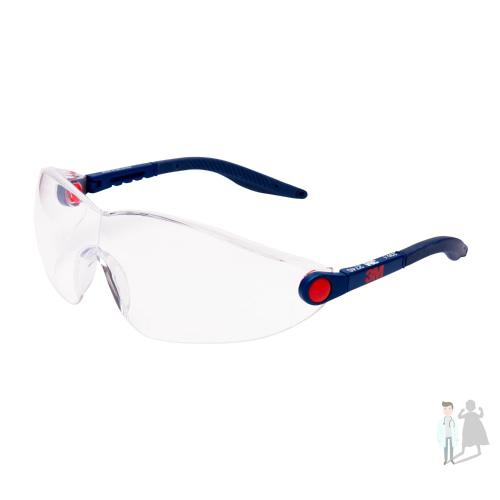 Очки защитные 3M 2740 открытые прозрачные