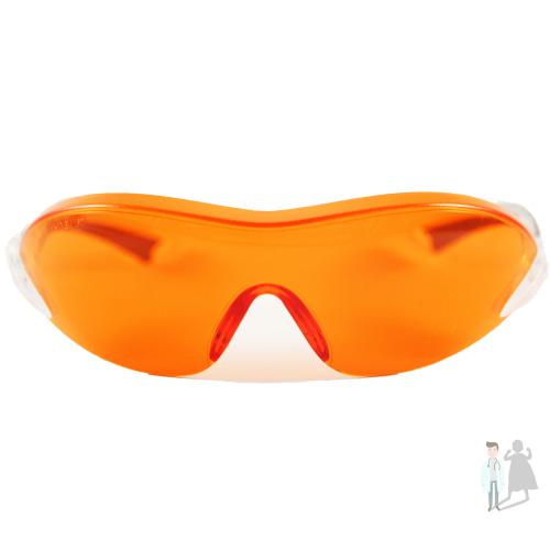 Очки защитные красно-оранжевые
