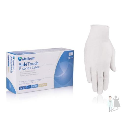 Латексные перчатки смотровые неопудренные нестерильные перчатки