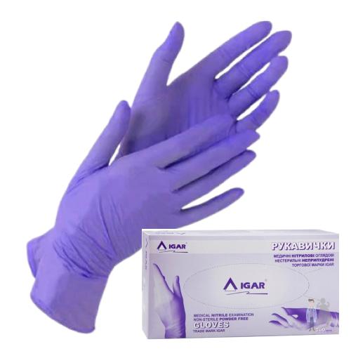 Нитриловые перчатки Игар смотровые неопудренные