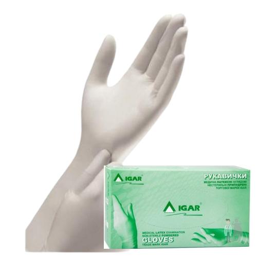 Латексные перчатки Igar 100шт размер L