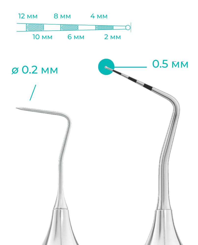 Размеры стоматологического зонда тип 3