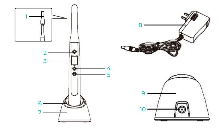 Устройство и комплектация полимеризационной лампы беспроводной