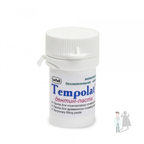 Дентин паста TEMPOLAT для временных пломб